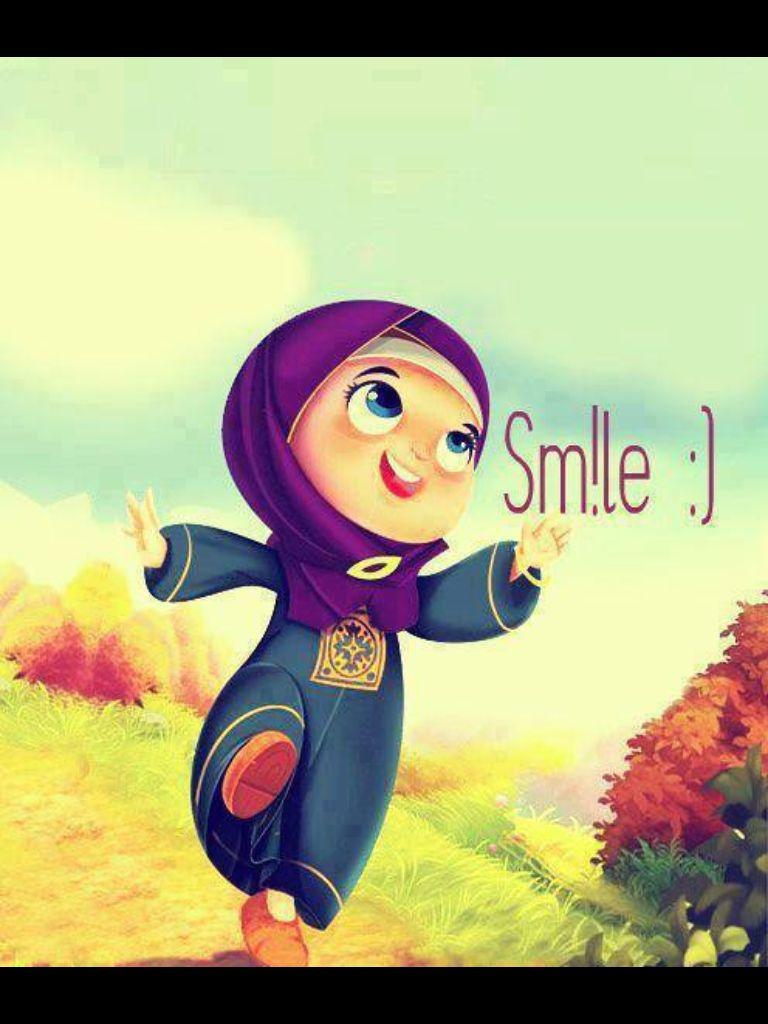 smile its sunnah a· hijab cartoonbest