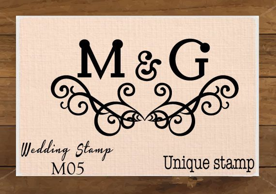 Monogram Custom Wedding Stamp. Personalized Wedding by UniqueStamp, $8.00