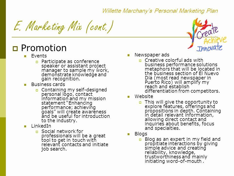Personal Marketing Plan Template Best Of Willette Marchany S Personal Marketing Plan Ppt Vid Personal Marketing Plan Marketing Plan Template Personal Marketing