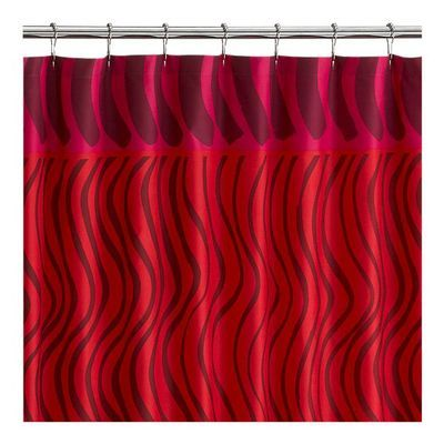 Crate Barrel Marimekko Silkkikuikka Red Shower Curtain