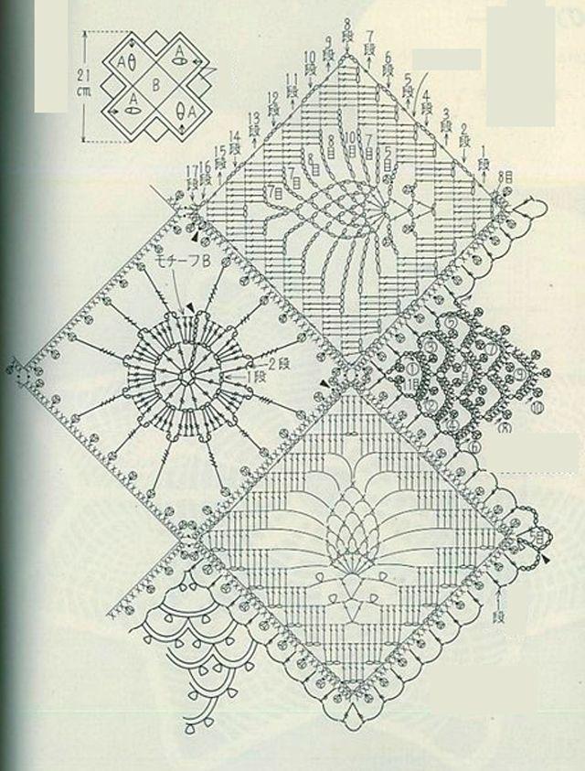 18 ажурных салфеток крючком   crochet   Pinterest   Patrón de ...