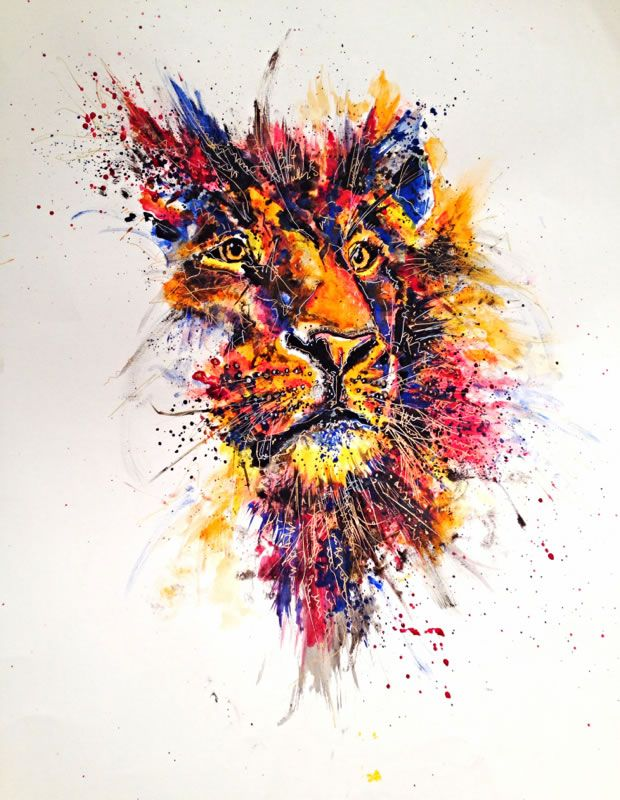 Colorful And Expressive Artworks By Emily Tan Abduzeedo Lion Art