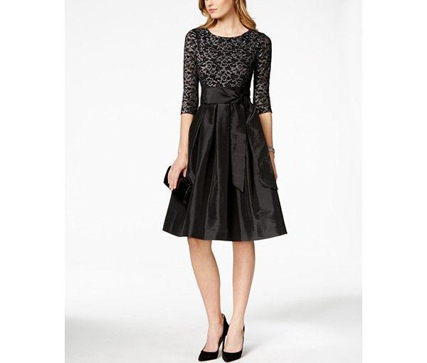 Jessica Howard Three-Quarter-Sleeve A-Line Dress - Dresses - Women - Macy's