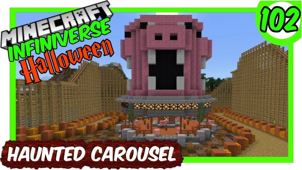 How To Make A Xp Farm In Minecraft Bedrock The Haunted Pig Carousel 102 Minecraft Bedrock Infiniverse Minecraft Bedrock Minecraft Garden