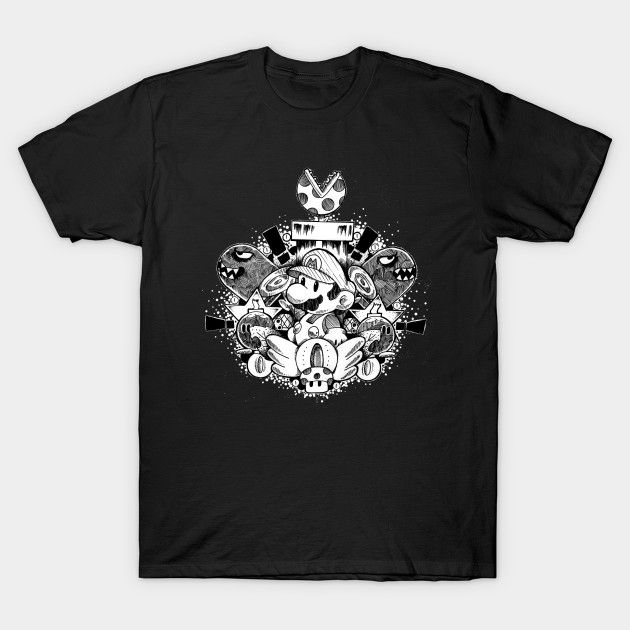 Amazing Plumber Brother Chest Piece T-Shirt - Super Mario Bros T-Shirt is $14 today at TeePublic!