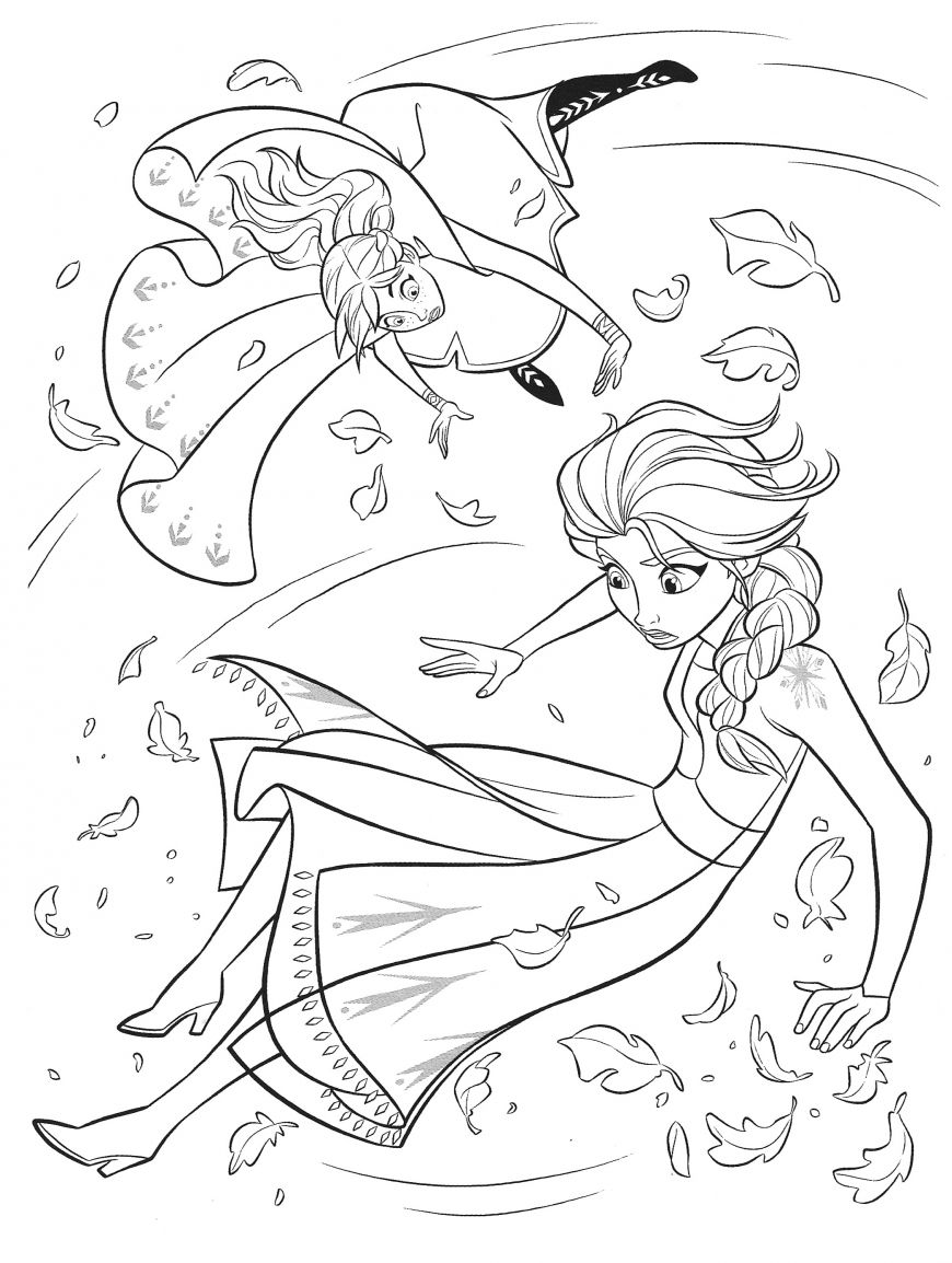 Frozen 2 Elsa And Anna Coloring Pages In 2020 Frozen Coloring