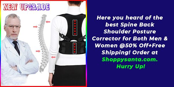 New Adjustable Spine Back Shoulder Posture Corrector for Both Men & Women!!! At 50% Off with Free Sh...