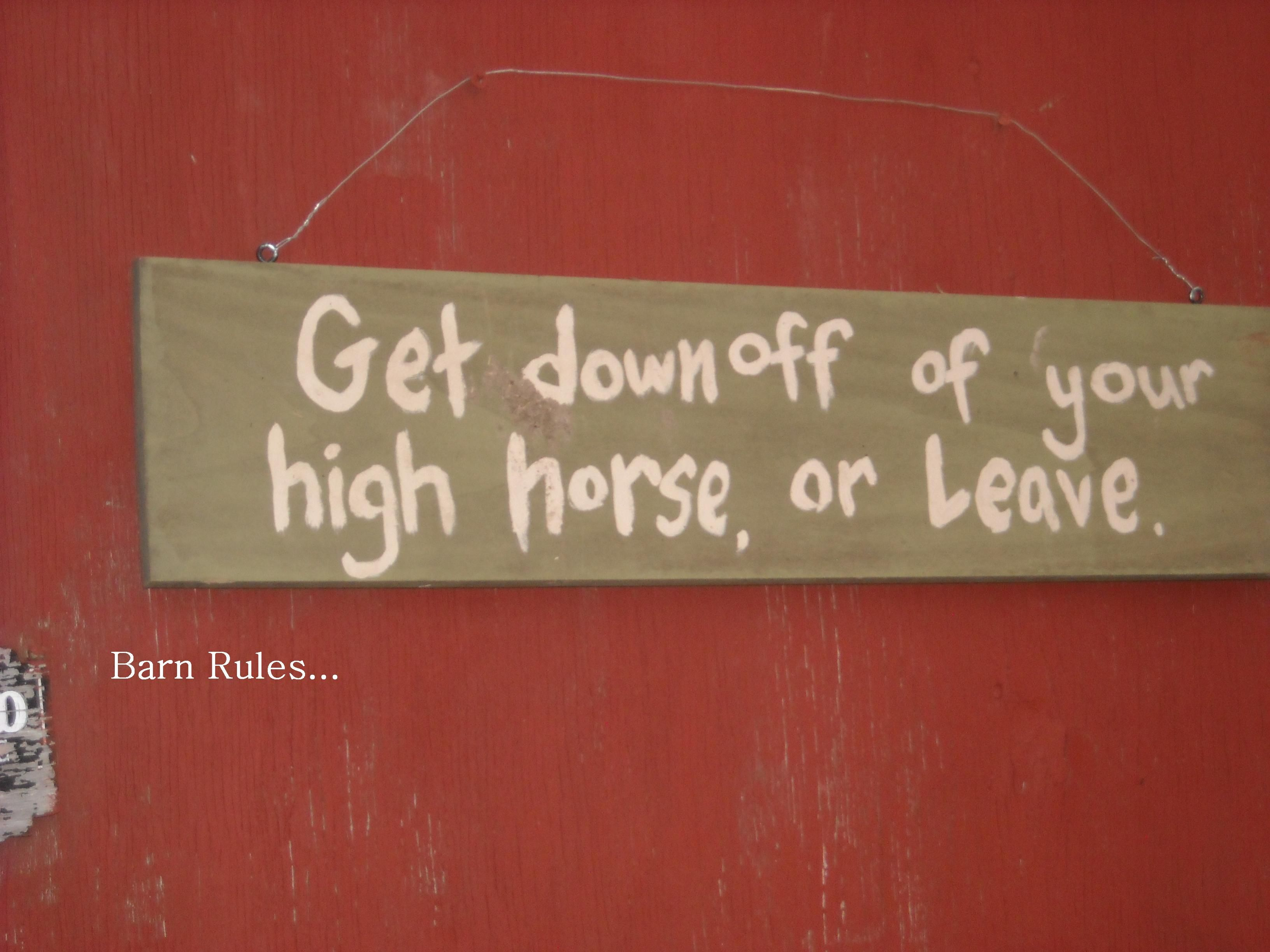 Barn Rules...