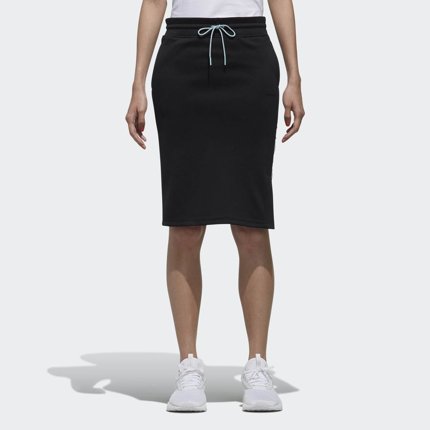 Recrafted Skirt Cloud White Dm4324 Black Adidas Sporty Look Skirts