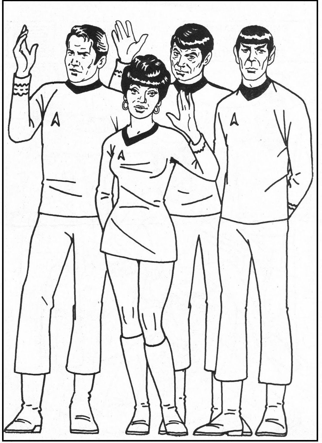 Star Trek Group Coloring Picture For Kids Star Trek Printables