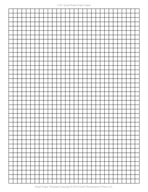 photo about 1 Inch Grid Printable named Graph Paper Template, 1/4 Inch Letter PDF printables