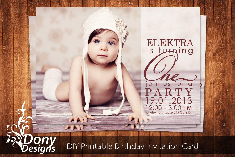 BUY 1 GET 1 FREE Photo Birthday Invitation Photocard