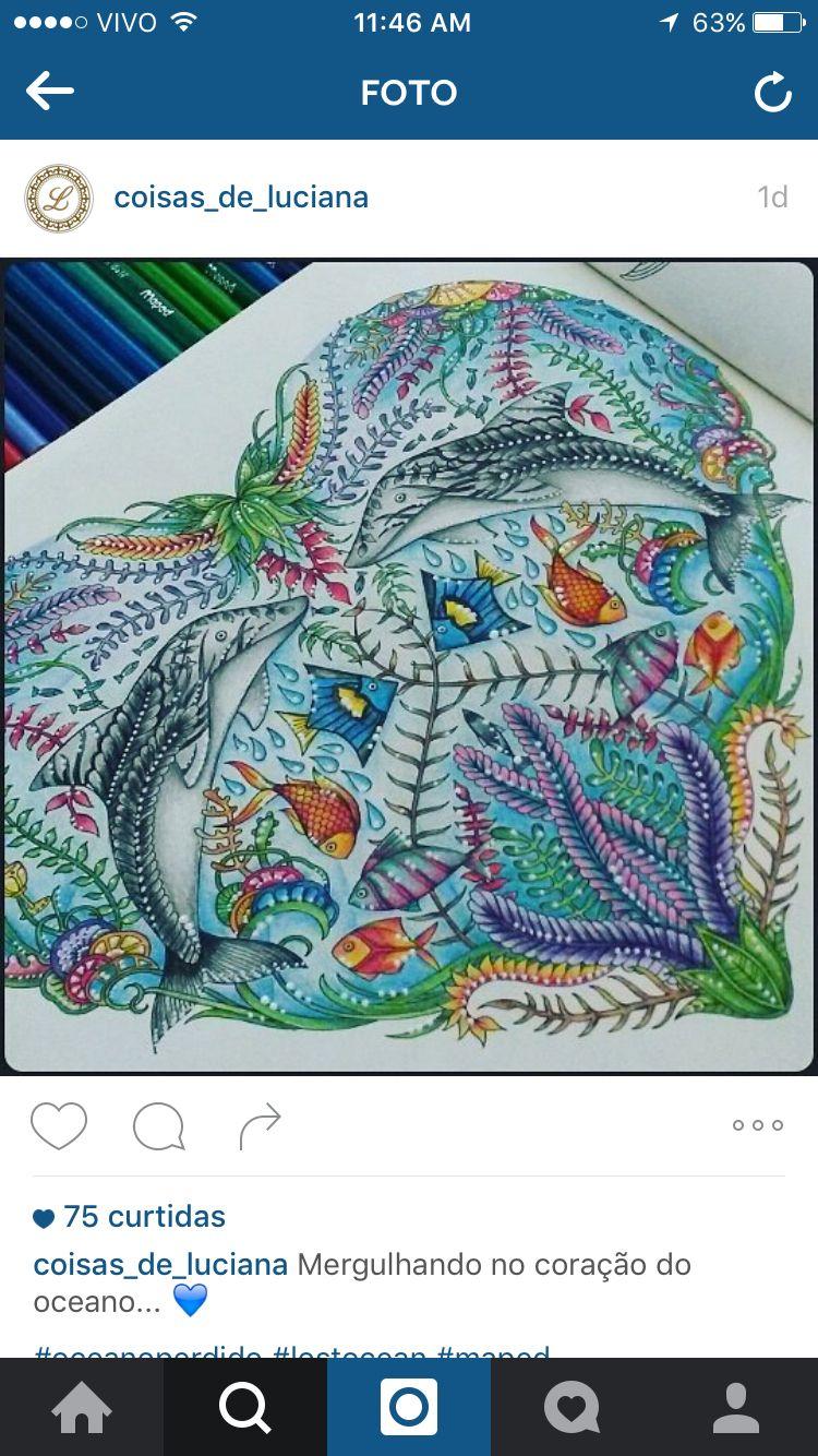 Golfinhos | Coloring | Pinterest | Océano y Perdida
