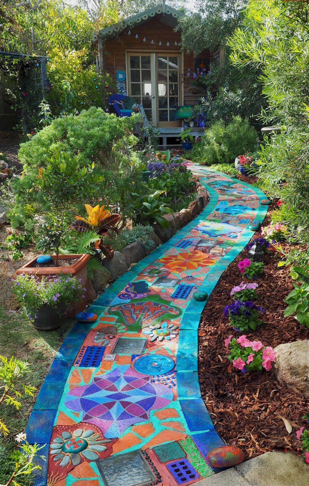 10 Cheap DIY Garden Paths Design Ideas  Unique gardens, Garden