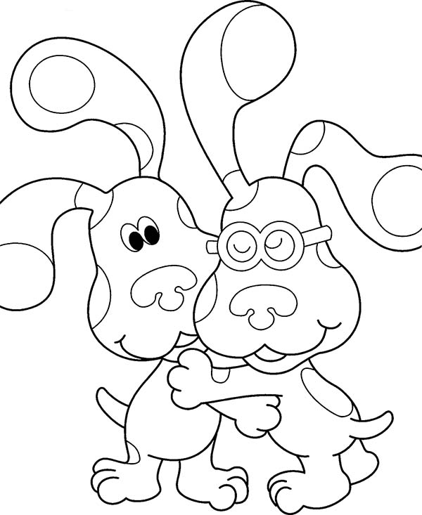 Blues Clues Hug His Friend Coloring Page Coloring Sun Nick Jr Coloring Pages Coloring Pages Blues Clues