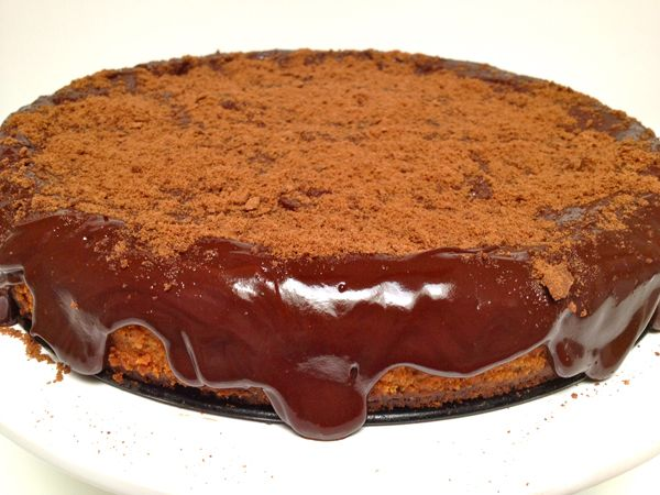 Cheesecake com chocolate e doce de leite