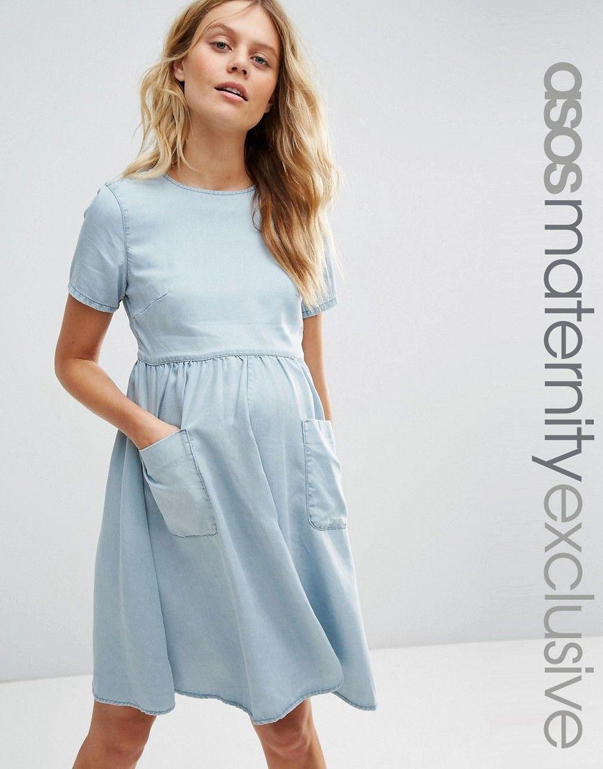 Image 1 of ASOS Maternity Denim Full Swing Dress | All things ...