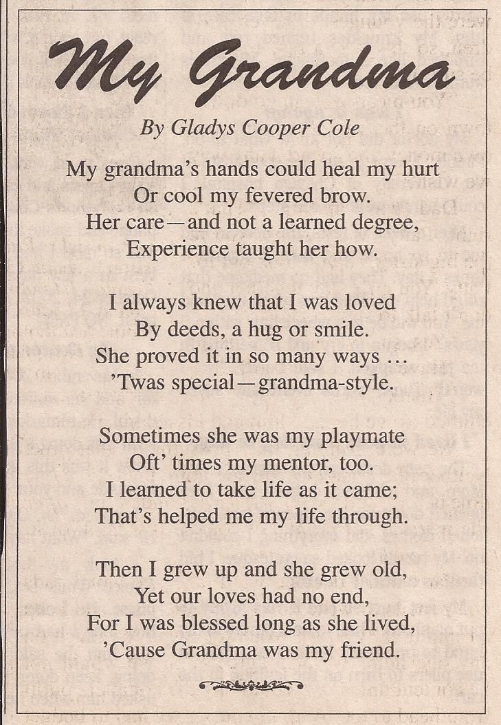 Image Result For Grandchildren Poems For Grandma Prayers