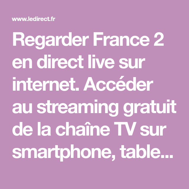 France 2 Live Stream