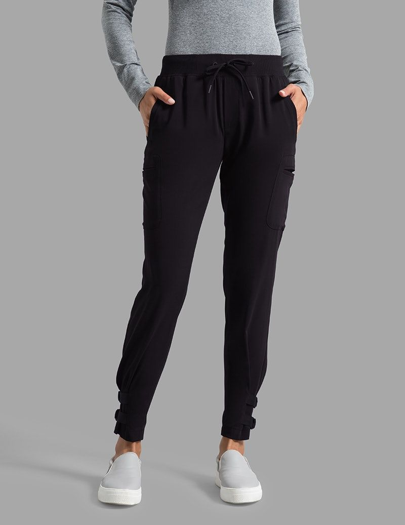 4894510e8 Buckle Hem Jogger Pant in Black - Medical Scrubs | sleepwear ...