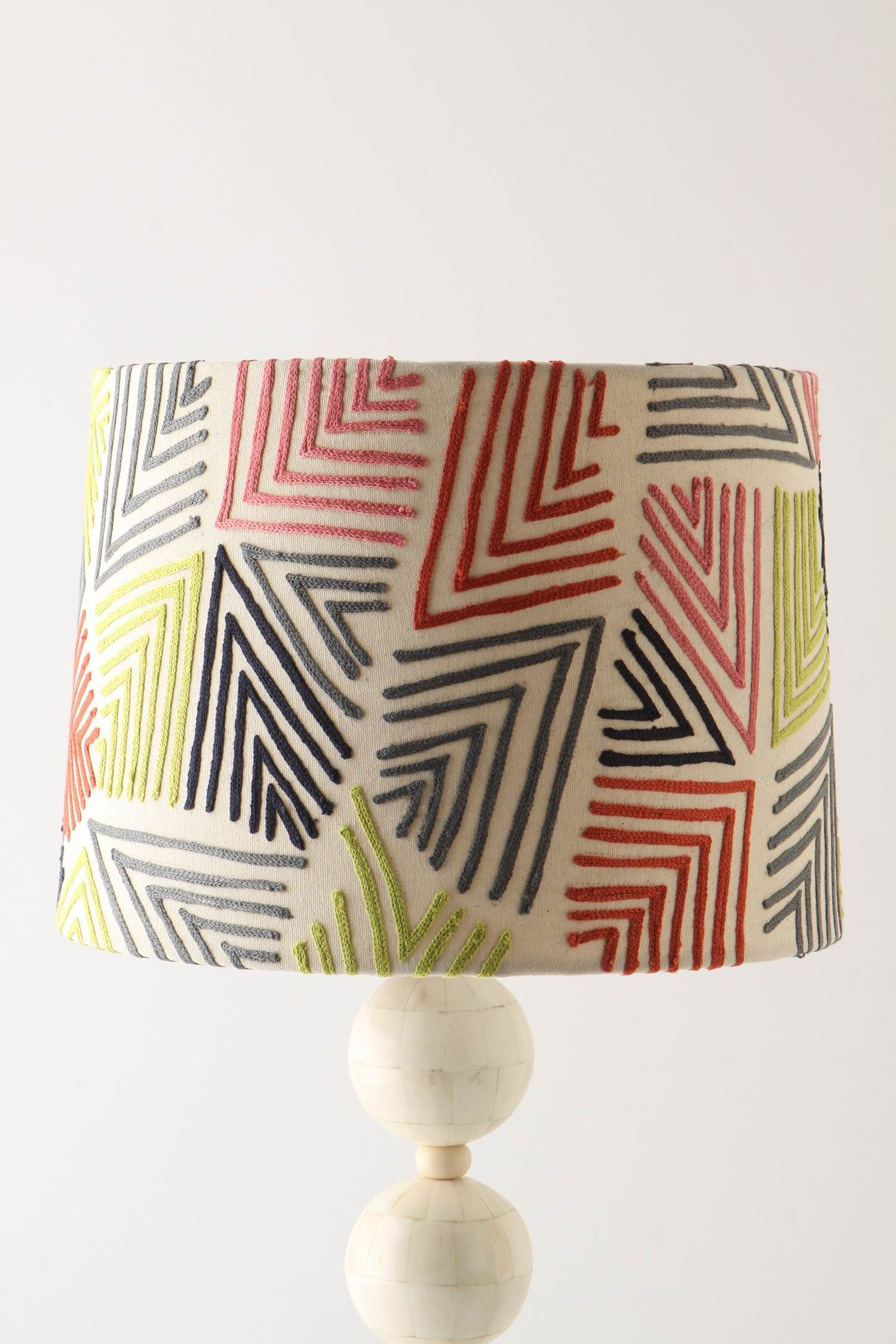 A Plain Lampshade Yarn And Some Glue Awesome Geometric