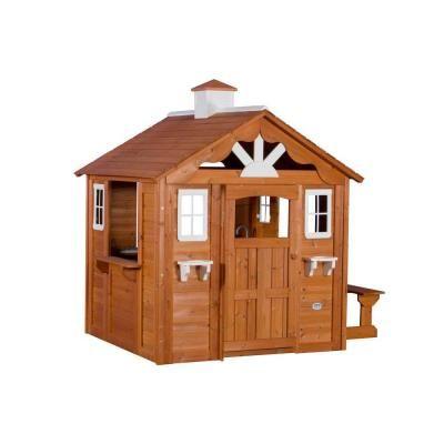 Backyard Discovery Summer Cottage All Cedar Playhouse ... on Backyard Discovery Pavilion id=27610