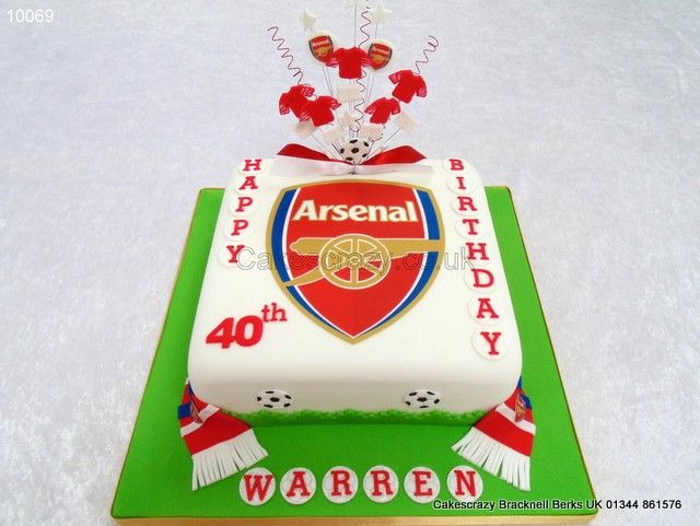 ... arsenal-logo-cake-10069.html  Arsenal  Pinterest  Logos, Cakes and