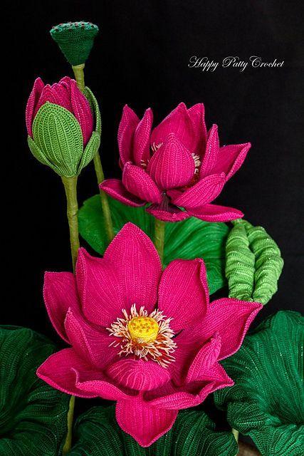 Lotus Flower Pattern By Happy Patty Crochet Creative Crafts