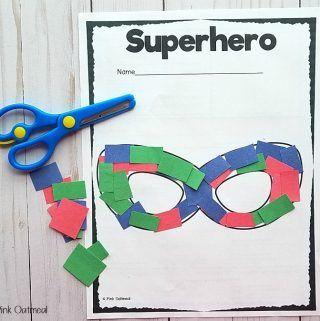 Superhero Themed Fine Motor Activities | Pink Oatmeal Shop