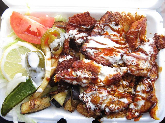 03 Fried Fish Over Rice Halal Food Cart 23rd St 6th Ave Nyc Me So Hungry Halal Recipes Food Dog Food Recipes