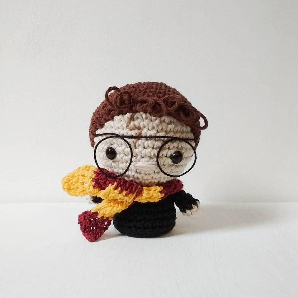 Mini Harry Potter Amigurumi - Patrón PDF - ENG & ESP | Crochet ...