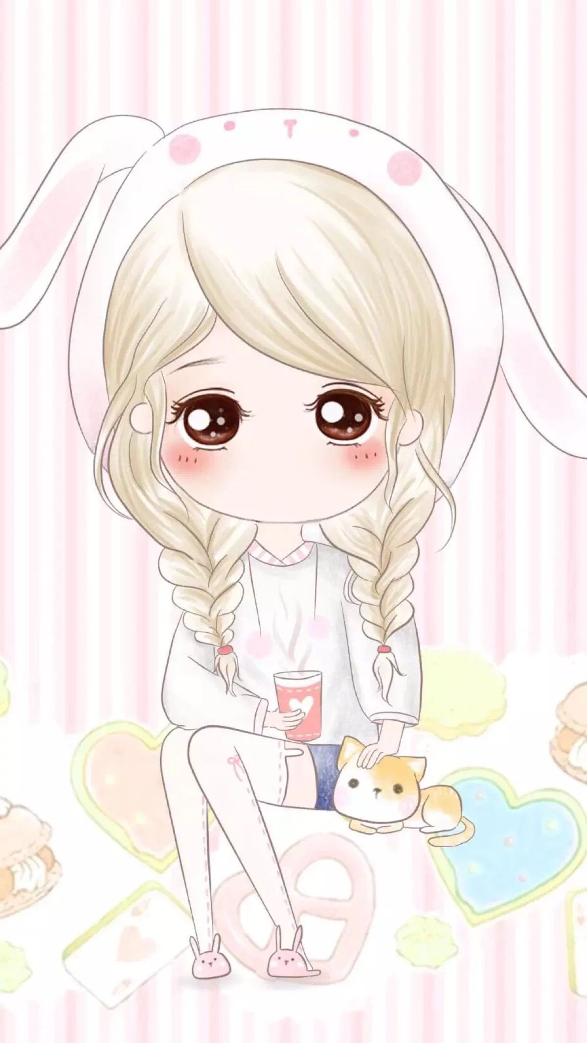 Anime Chibi Photos Chibi Girls and Cats Wallpapers