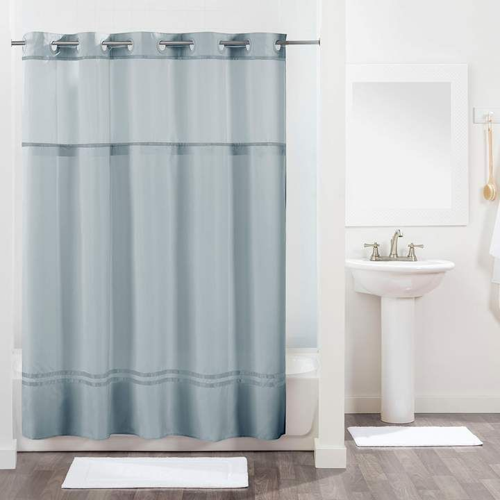 Hookless Monterey Shower Curtain And Liner Striped Shower