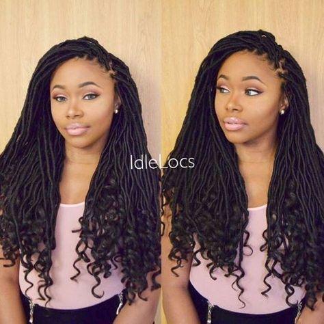 FreeTress Synthetic Hair Crochet Braids Goddess Loc 18 by @milkyway_hair #crochetbraids