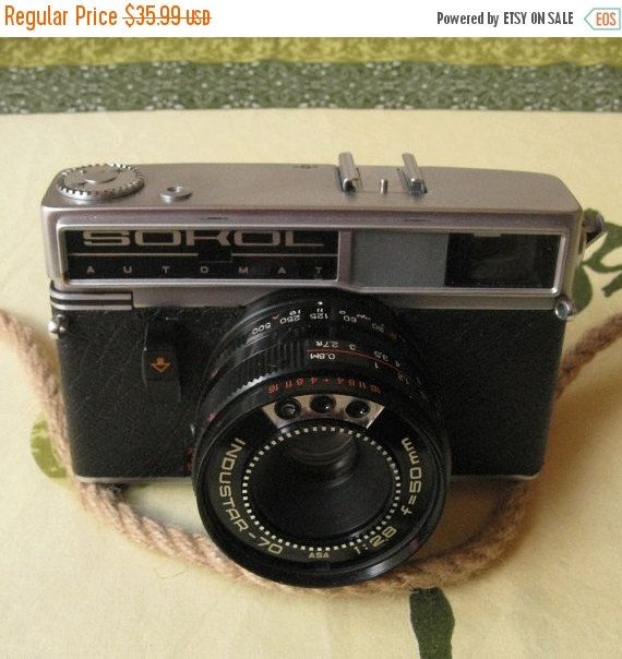 This listing is for a Sokol Automatic camera which is quite rare and can be a great addition to your collection. The item was tested and it work perfectly well. Please note that we don't test camera with film. It comes with original case (has some signs of usage) and original lens cover. This model was been producing in USSR in 60s and 70s. Detailed technical specification is presented here http://camerapedia.wikia.com/wiki/Sokol_Automat More vintage cameras available here...