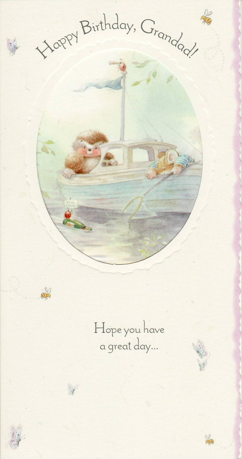 Hallmark Country Companions Hedgehog Mouse Birthday Card