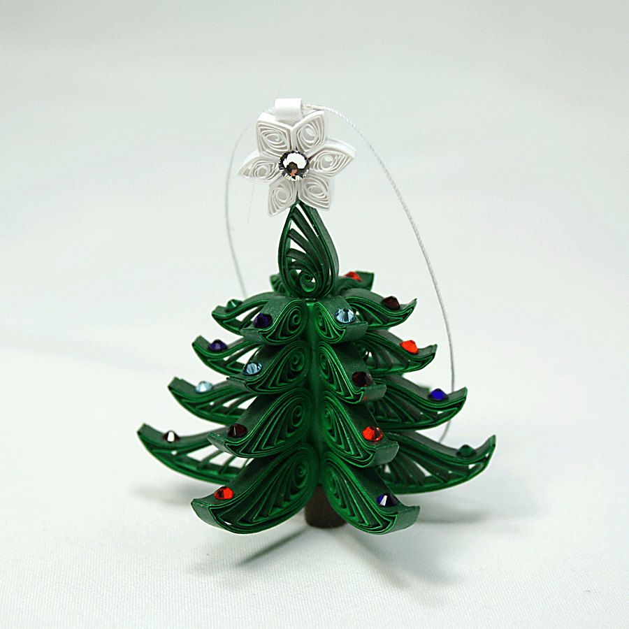 ChristmasTree Ornament A Wonderful Quilled / By