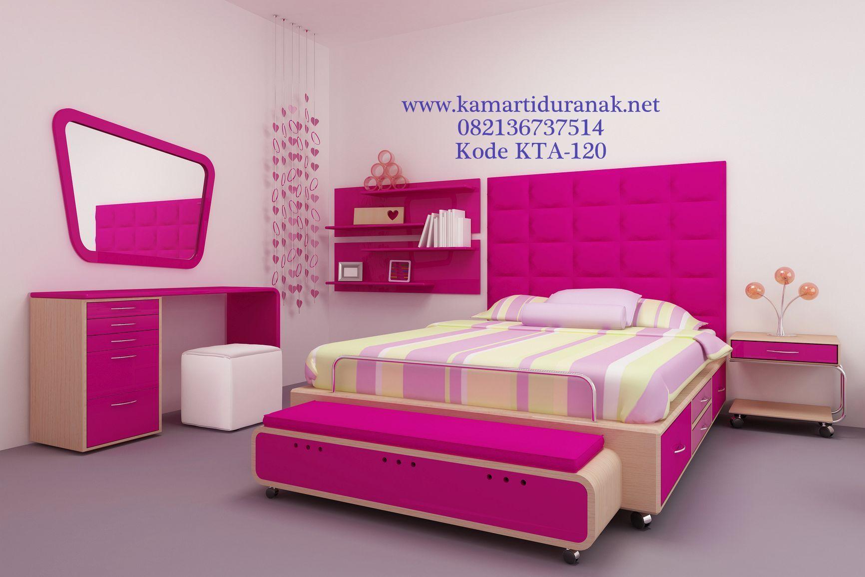 Harga Set Tempat Tidur Remaja Pink Minimalis Modern Interior
