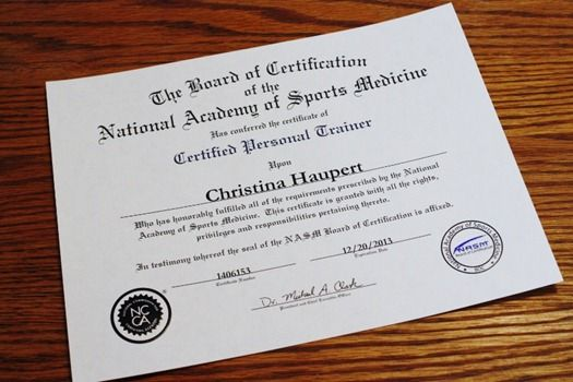 Image result for NASM Certified Personal Trainer