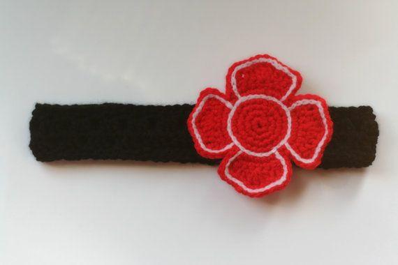 Firefighter/ Fire Department Crochet Headband/ by AndreaDanielle, $10.00