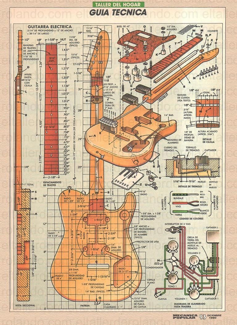 Free Electric Guitar Plan Vintage Guitars Pinterest On Steampunk Fender Telecaster And Epiphone Click To Enlarge Chords Diy Chord Chart Music