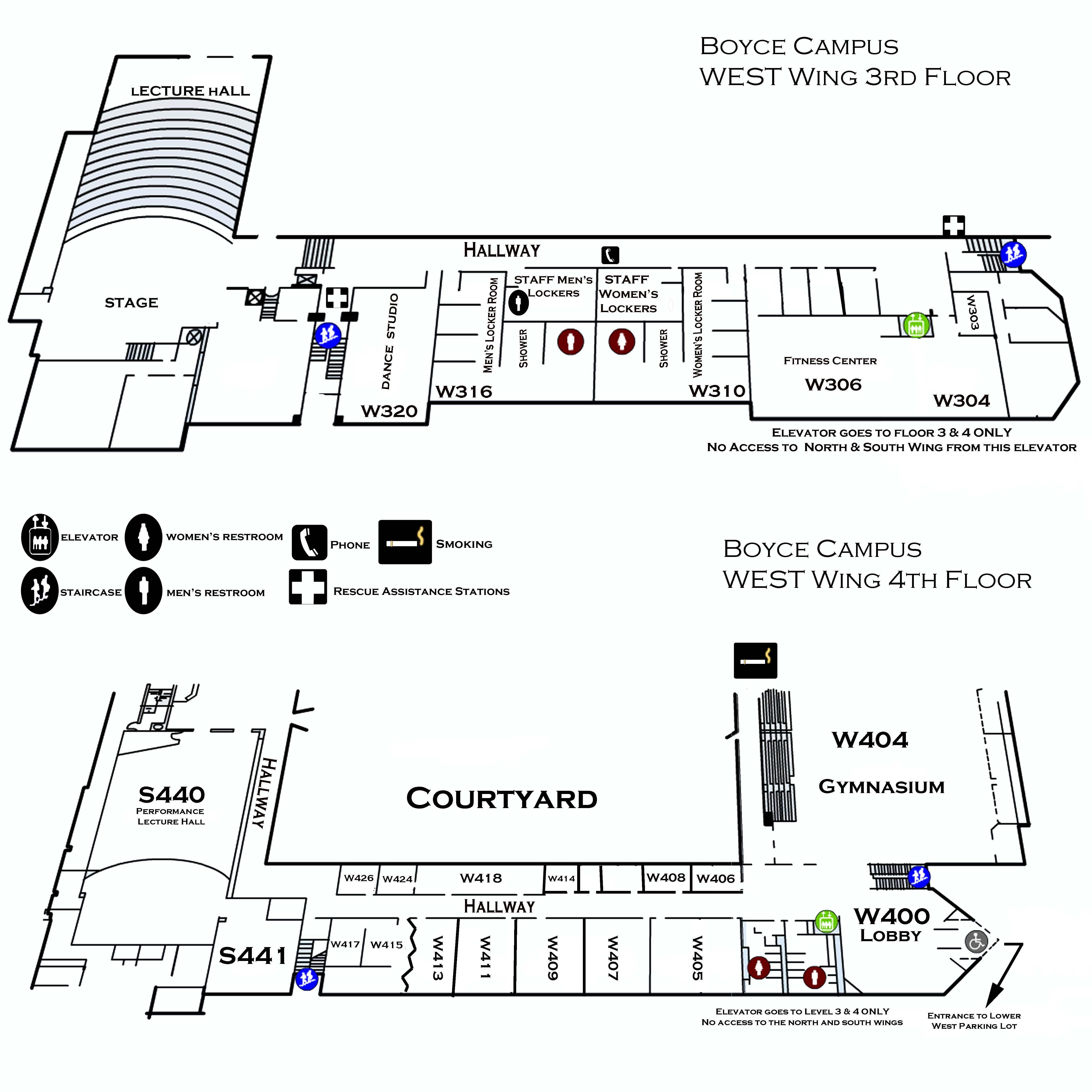Boyce Campus West Wing 3rd 4th Floor Ccac Boyce Campus Maps