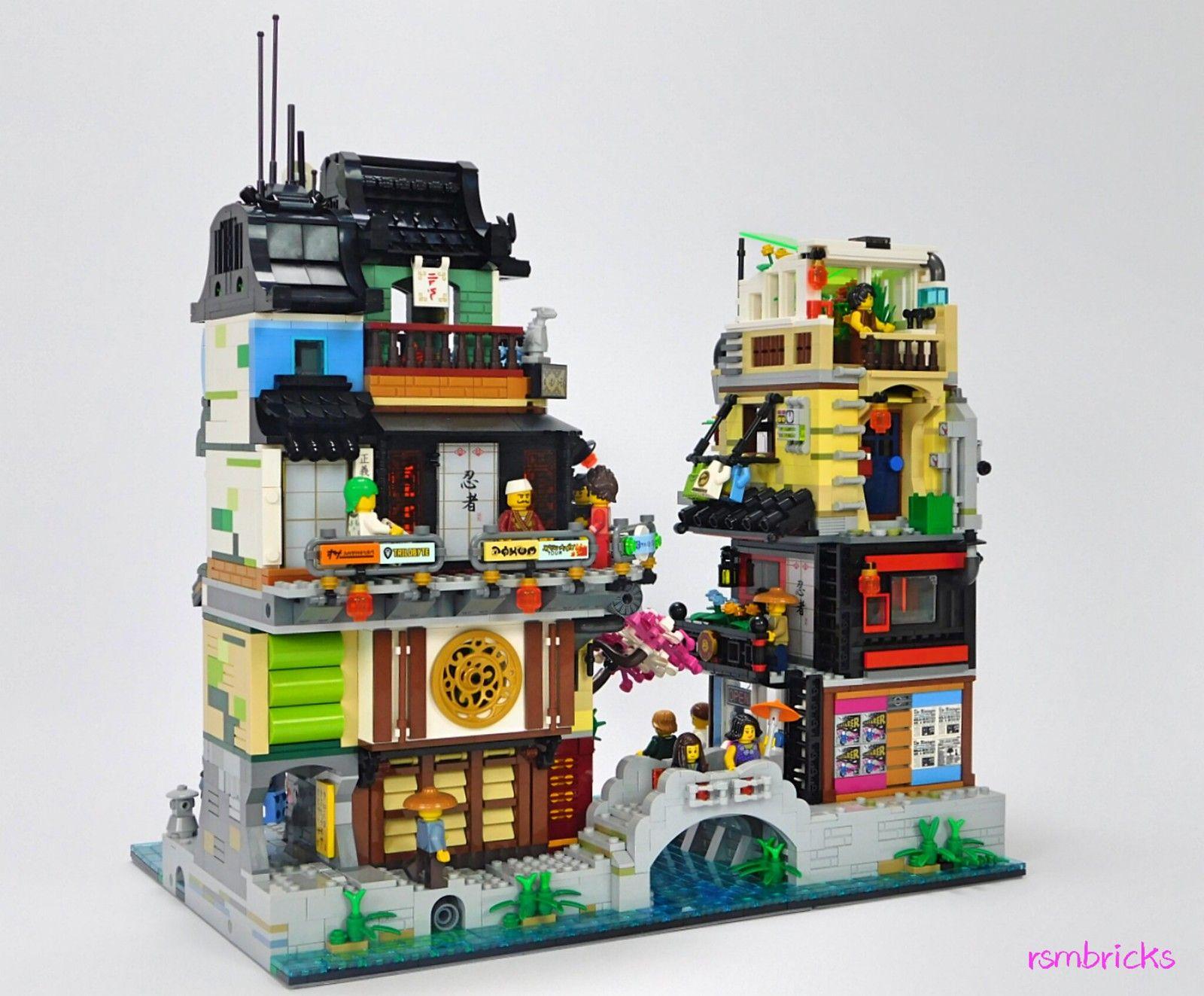 Ninjago City : The Suburbs (An extension to Lego set 70657 Ninjago City  Docks) | Lego ninjago city, Lego, Lego ninjago