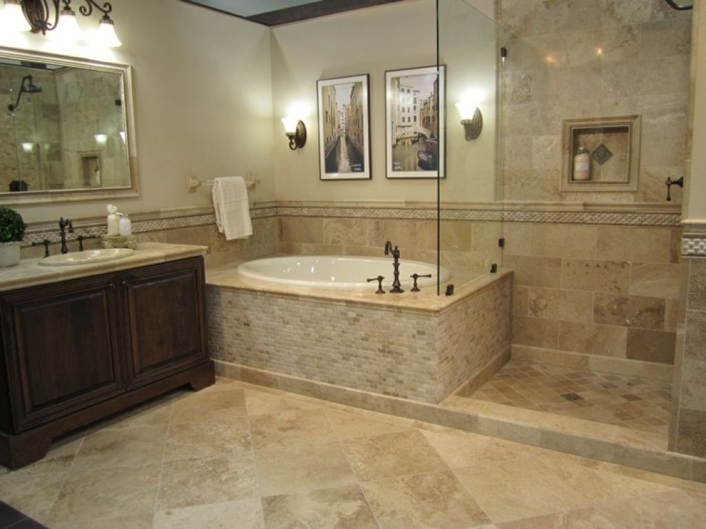 Shower Tile Designs Travertine Vanity Honed Driftwood Travertine