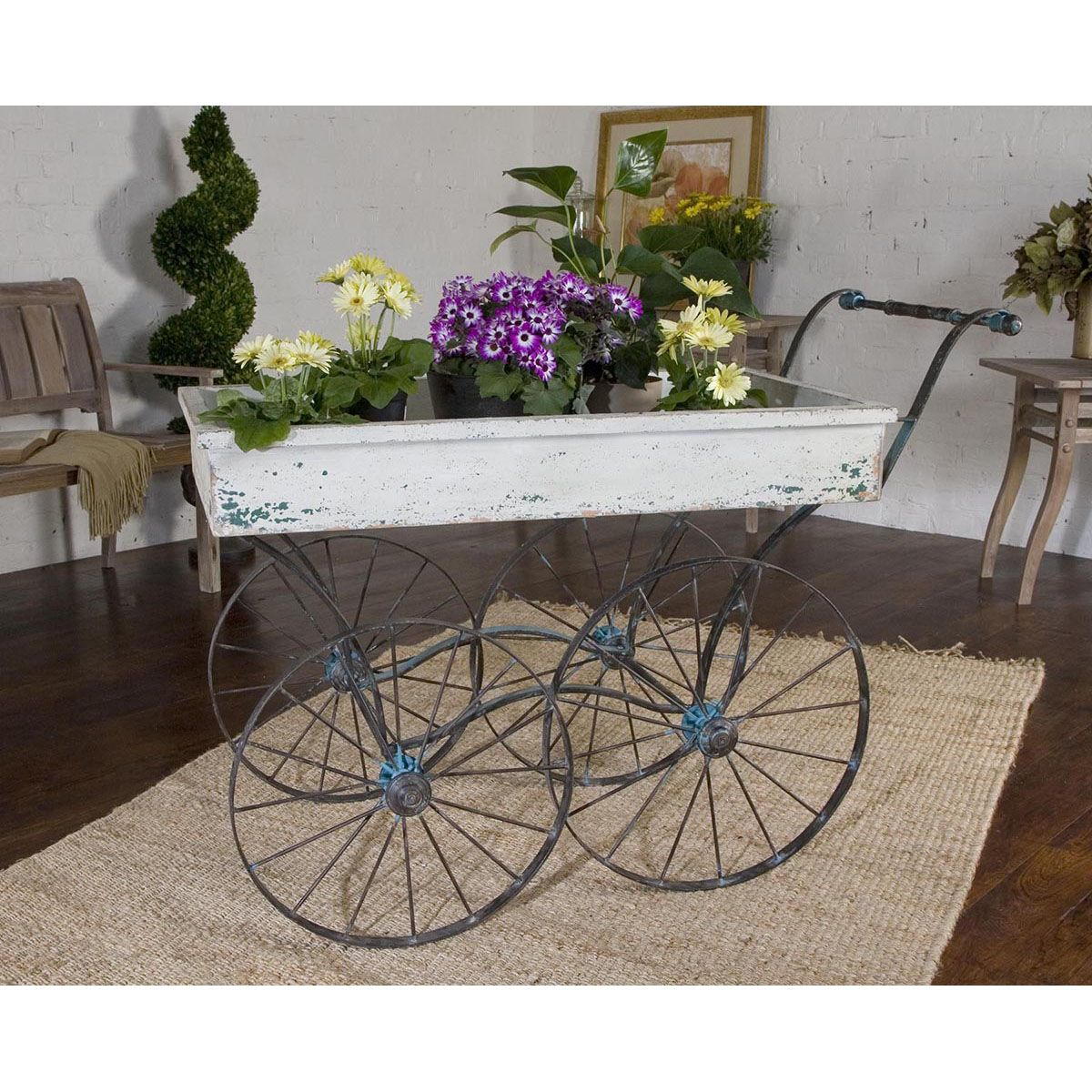 Uttermost Generosa Weathered Flower Cart 26128