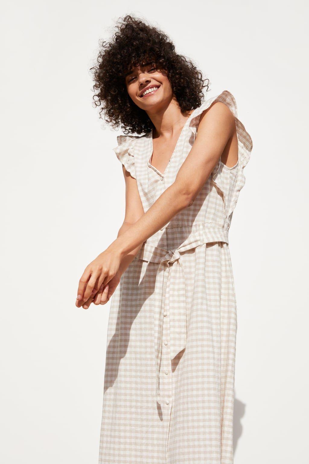 035674e24acc RUSTIC CHECK DRESS - Midi-DRESSES-WOMAN