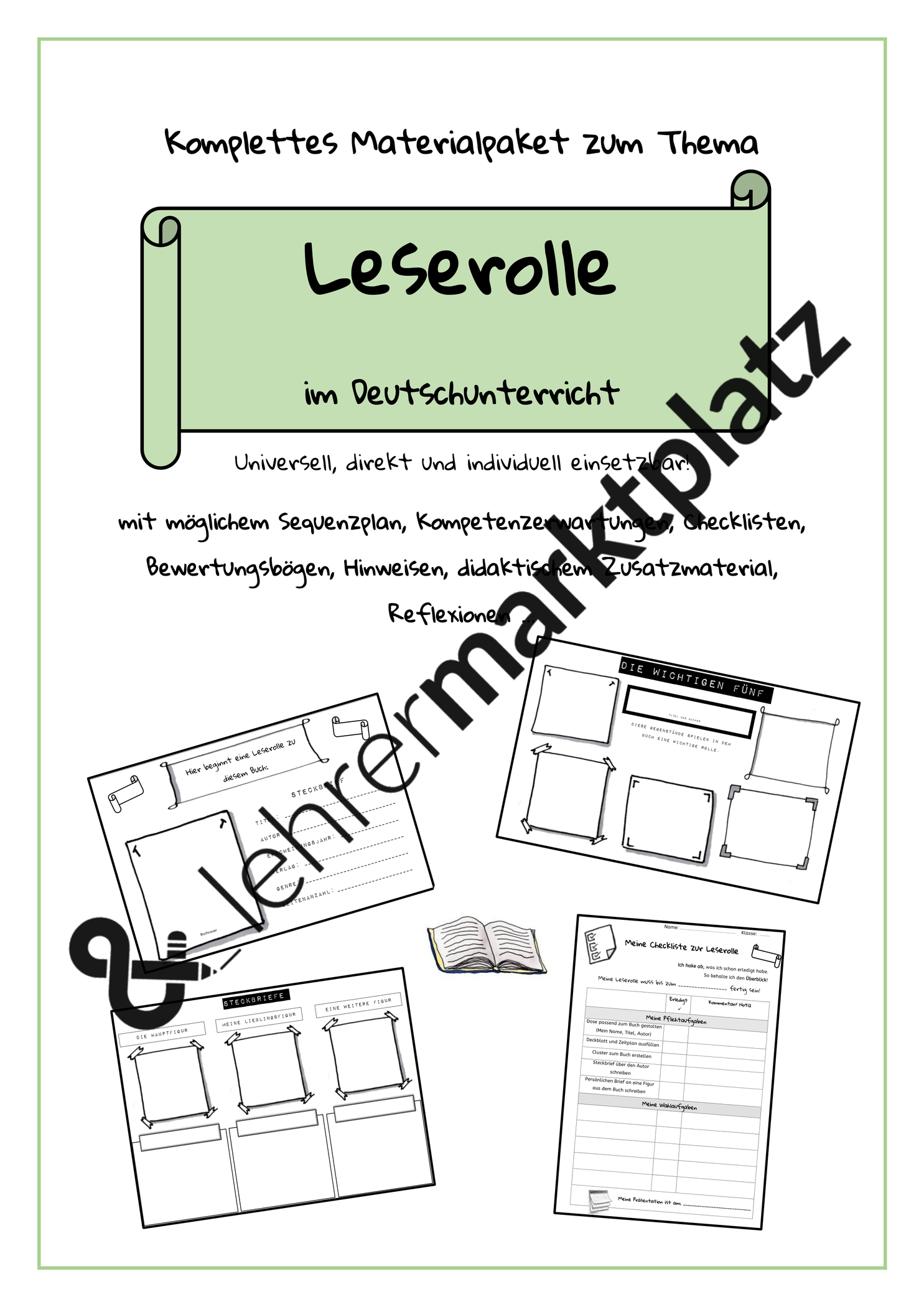 Vorlagen Leserolle Zaubereinmaleins Designblog 7