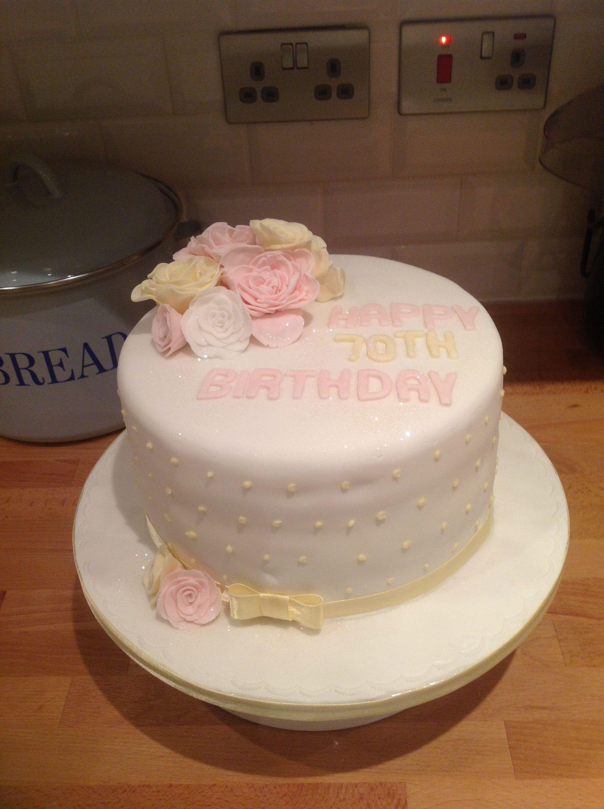 70th Birthday Cake The Bluebell Bakery Recipes Pinterest 70th