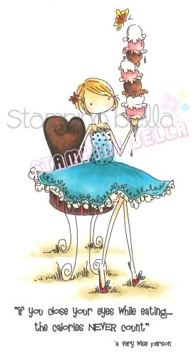 Cling Rubber Stamp Set ISABELLE LOVES ICE CREAM Stamping Bella Uptown Girls
