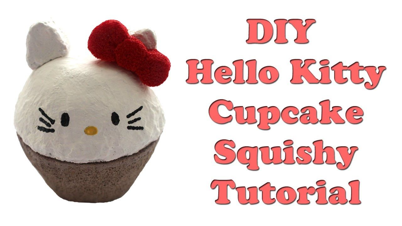 Diy Squishy Hello Kitty : Homemade Hello Kitty Cupcake Squishy Tutorial squishy tutorial Pinterest Hello kitty ...